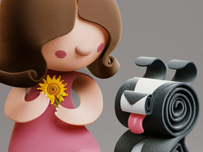 QUILLED | characters yumekon illustration quack character behance flower girl dog 3d paper quilled