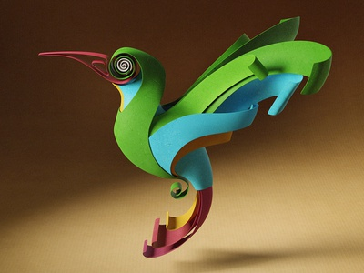 Quilled | Nestlé Milkybar bird design paper 3d character quilling quilled illustration yumekon