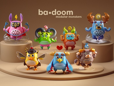 ba•doom | modular monsters