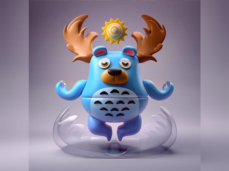 ba•doom | modular monsters yumekon monster 3d character illustration