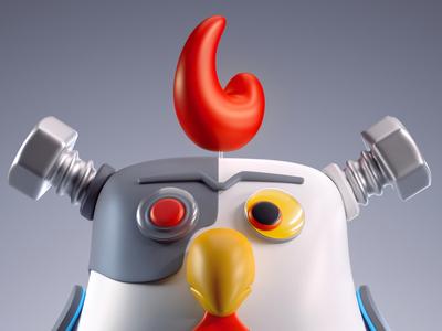 Robot Chciken x ba•doom | modular monsters