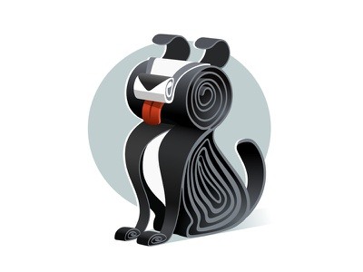 QUILLED 2D | Sausage vector vector art dog bordercollie quilled quilling illustration character