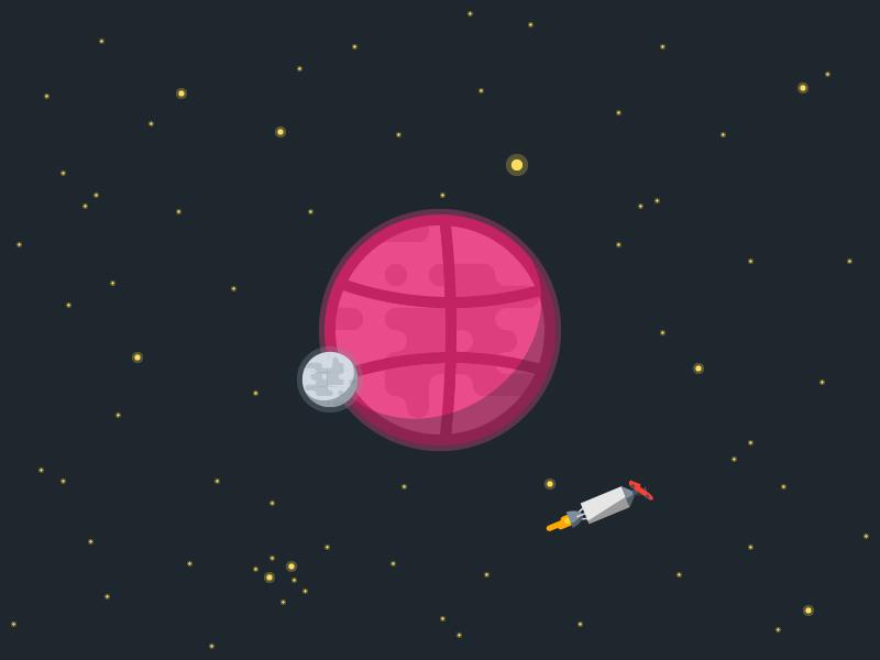Dribbble Planet falcon heavy spaceman spacex space flat design dribbble planet