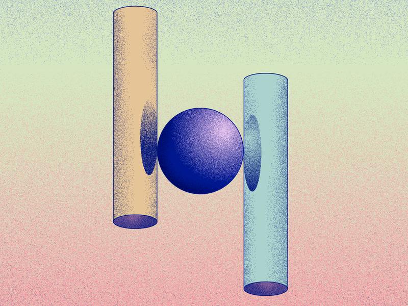 H for helium - 36 days of type illustration 2019 typogaphy 36daysoftype06 36daysoftype