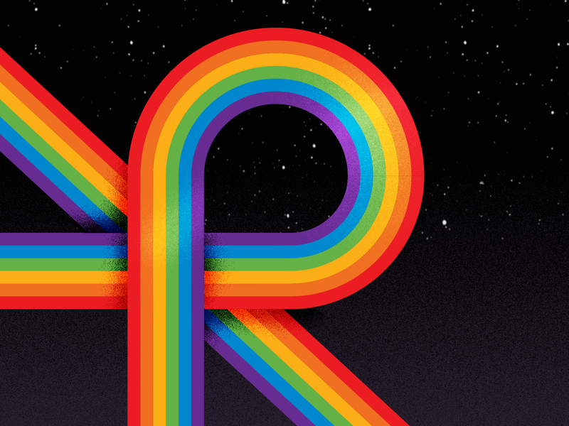 R for rainbow - 36 days of type typogaphy vector 2019 illustration 36daysoftype06 36daysoftype