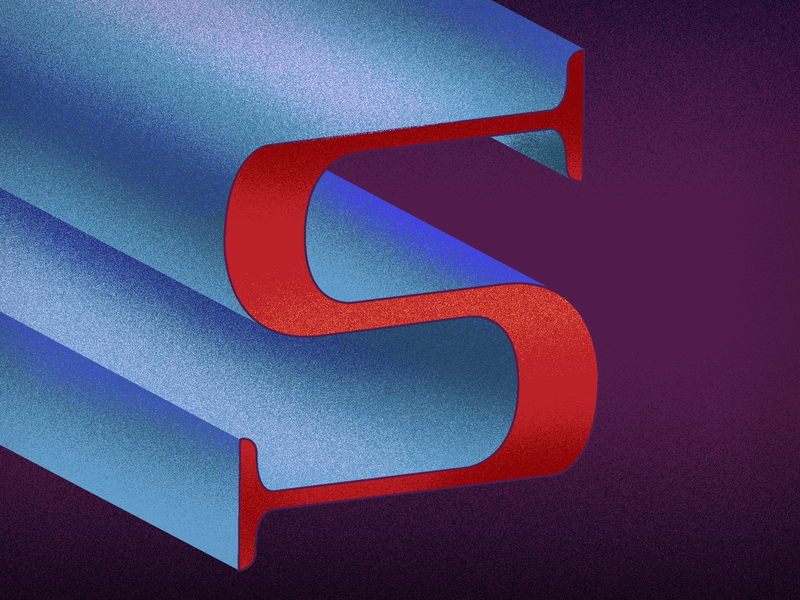 S for superman - 36 days of type vector design 2019 typogaphy 36daysoftype06 36daysoftype