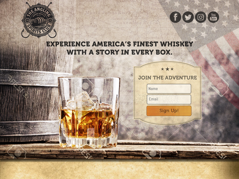 Whiskey Monthly Subscription Box Landing Page By Vladan Krstic