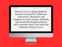Sister Loves - About Page