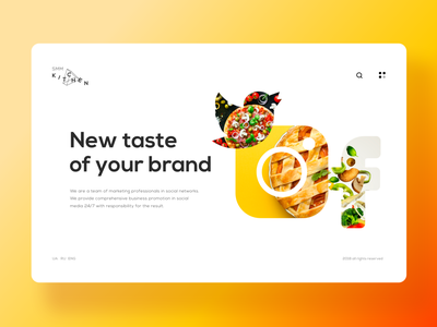Smm Kitchen clean website design branding brand uidesign landing creative design clean ui white clean landing page socialmedia twitter facebook instagram smm web design website web