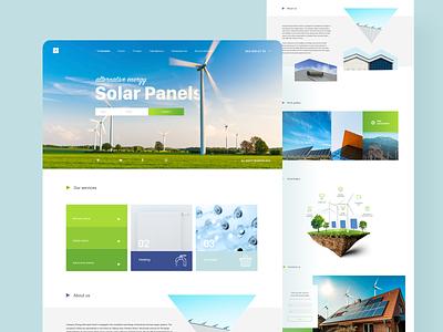 Alternative energy website website concept webdesign ui design ui  ux ui web website alternative energy solar energy solar solar panel