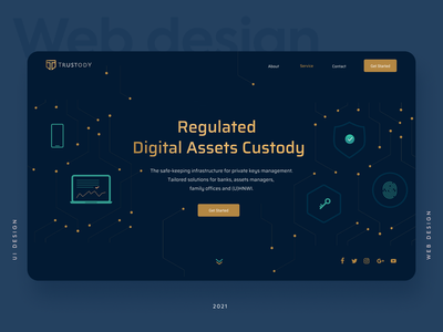 Crypto custody service website design ui design uiux branding design ui uidesign crypto landing web design website web
