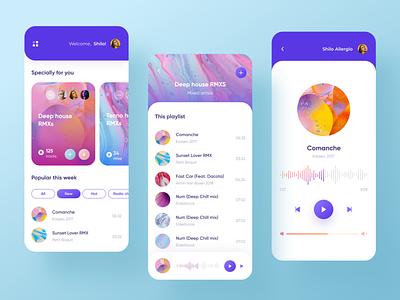 music player  design concept music player music music app mobile mobile app design mobile app mobile ui ui  ux uidesign design clean ui ui