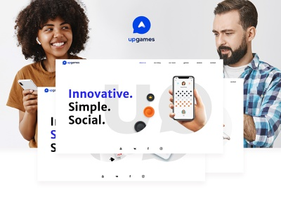 Upgames website mobile app development company ui  ux ui web design web
