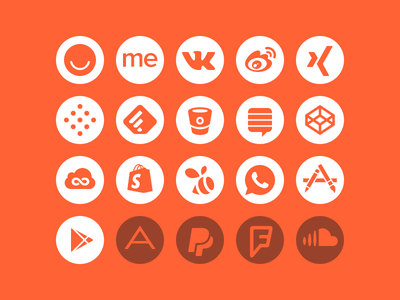 Social update icons
