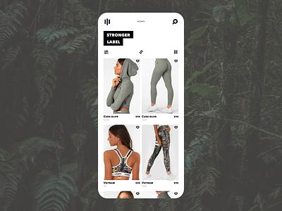 Animated mobile E-shop parralax parallax plants redesign shop ux design ui app screen gallery list stronger brand fashion scroll e-shop eshop mobile animated