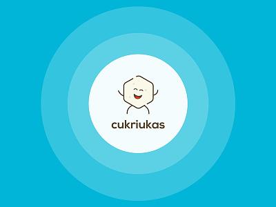 Cukriukas App logo character flat logo carbs sugar insulin diabetes ux ui app mobile