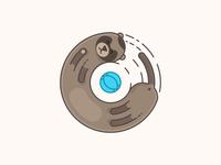 Crazy ferret illustration