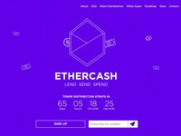 Ethercash Homepage design