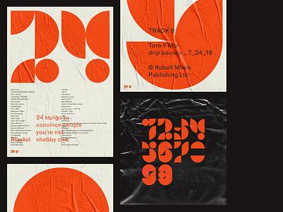 Numerals design vector typography poster illustration