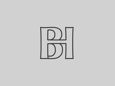 Bh Monogram typography type bh illustrator monogram