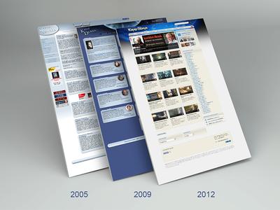 Kayıp Dünya (2005-2009-2012) web ux ui responsive landing homepage design