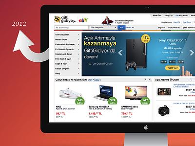GittiGidiyor - eBay (2012) gittigidiyor ebay css html layout web ux ui responsive landing homepage design