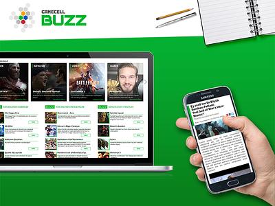 Gamecell - Buzz (2016) (Turkcell + Bigkazan) web ux ui responsive layout landing photoshop css html gamecell turkcell