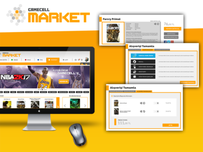 Gamecell - Market (2016) (Turkcell + Bigkazan) web ux ui responsive layout landing photoshop css html gamecell turkcell
