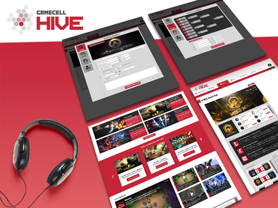 Gamecell - Hive (2016) (Turkcell + Bigkazan) web ux ui responsive layout landing photoshop css html gamecell turkcell