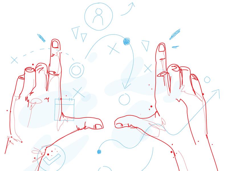 Service Illustrations (part 1) vector strategy sketch illustration hand drawn chicago branding illustration