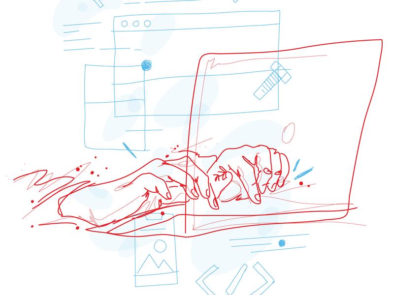 Service Illustrations (part 2) sketch illustration sketch vector branding hand drawn illustration