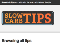 Slow Carb Tips