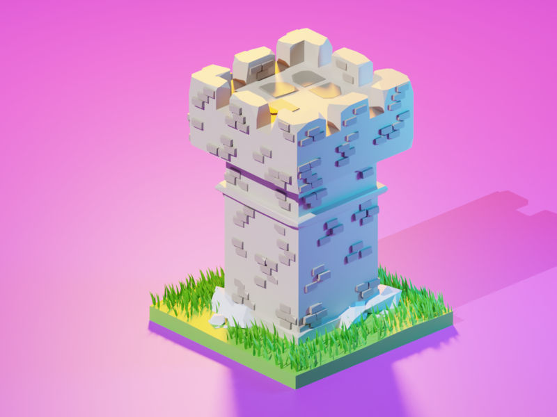 Low Poly Guard Tower