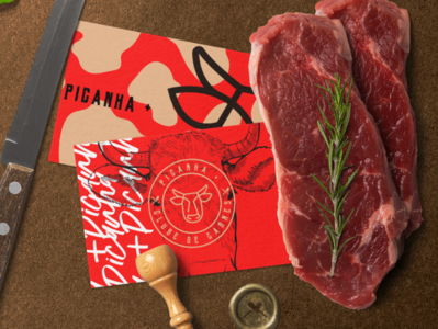 Picanha + typography cow vector icone tipo fonte design letter identidade visual type branding marca logo
