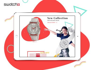 Swatch Redesign Concept digital app web watches concept. swatch design ui ux