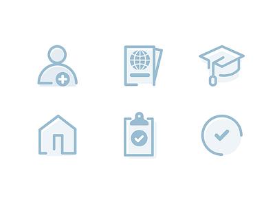 Icons vector ai ui icons digital blue dashboard illustration icons