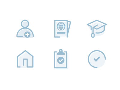 Icons vector ai ui icons digital blue dashboard illustration icons