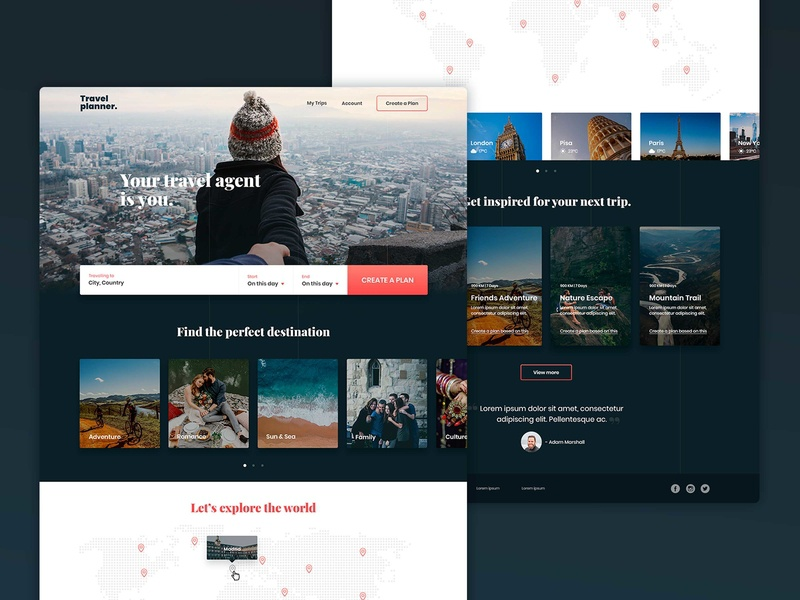 Travel Planer | Interactive Experience planner travel concept interaction design digital product design details web app ui ux digital design