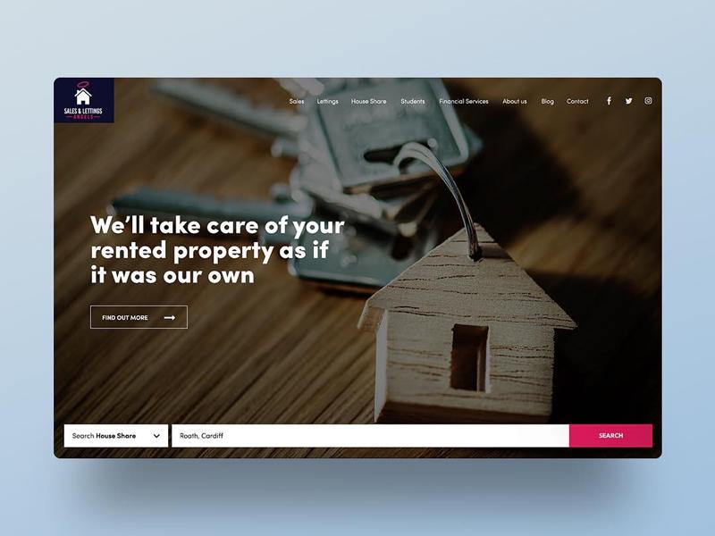Estate Agents Website by Kirsty Jones   Dribbble   Dribbble