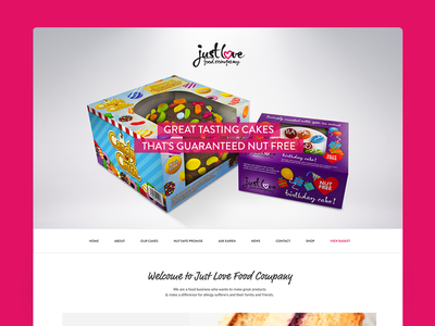 Cakes homepage