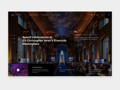 Event Production Homepage Idea