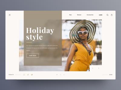 Fashion blog concept