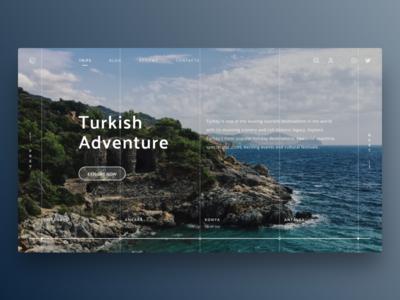Travel company concept