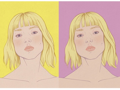 Portrait of a Blonde Girl 2d colorful fashion illustration girl woman portrait illustration portrait illustration
