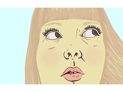 Doubt portrait illustration portrait colorful illustration