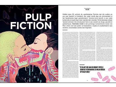 Illustration for Playboy Netherlands surreal love illustration human graphics face editorial colorful avatar art 2d
