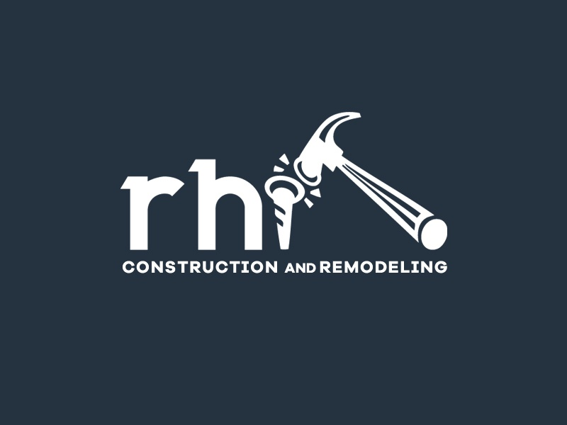 Branding for construction company nail hammer logo branding