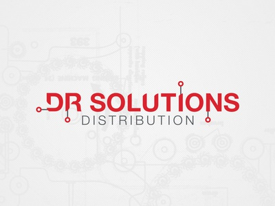 Wip Dr Solutions Distribution 4 design logo typography identity computer logo design technology