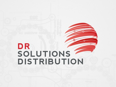 Wip Dr Solutions Distribution 5 design logo typography identity computer logo design technology