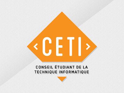 CETI 2 logo shield design branding logo design tech geek school